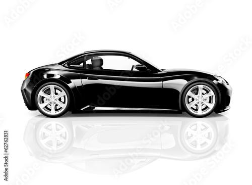 3D Black Sports Car