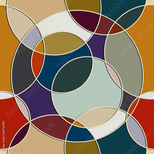 Naklejka na szybę Seamless texture of circular items
