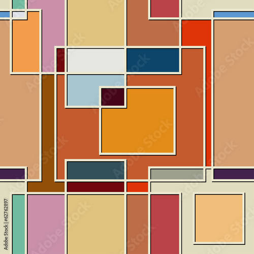 Seamless color texture of square elements Wallpaper Mural