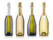 canvas print picture - champagne bottles