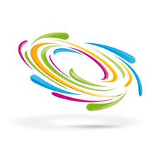 Vector Rainbow Vortex Background