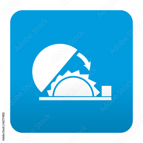 Fotografie, Obraz  Etiqueta tipo app azul simbolo herramienta de corte