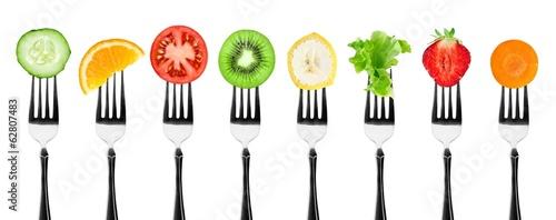 Poster de jardin Legume Fruits and vegetables