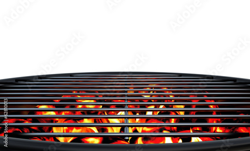Aluminium Prints Grill / Barbecue Charcoal Grill Close Up