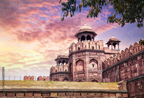 Stickers pour portes Delhi Red fort in India