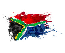 South African Flag Made Of Col...