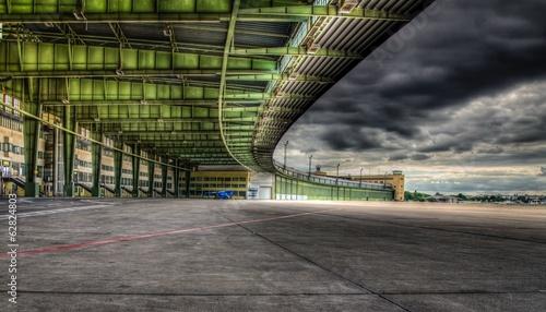 Berlin - Airport Tempelhof Canvas Print
