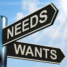 Needs Wants Signpost Means Nec...