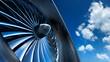 canvas print picture - Turbine mit Wolkenhimmel