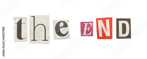 The end cutout newspaper letters buy this stock photo and explore the end cutout newspaper letters spiritdancerdesigns Gallery