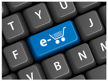 """E-SHOPPING"" Key On Keyboard (add To Cart Order Buy My Basket)"