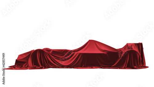 Presentation of the car. F1. Formula One. Isolated on white.