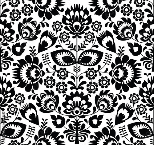 polish-folk-seamless-pattern-in-black-and-white