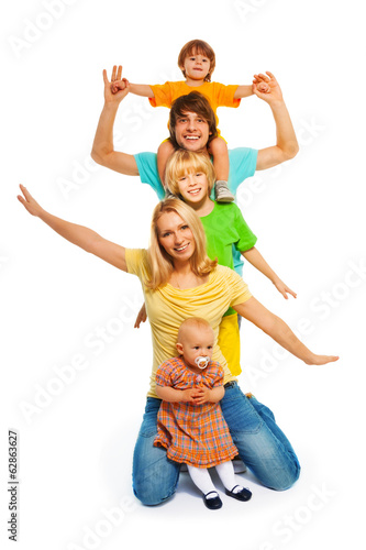 Foto op Plexiglas Dance School Family pyramid