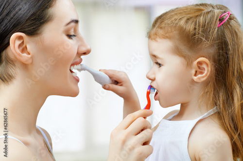Fotografie, Obraz  teeth brushing