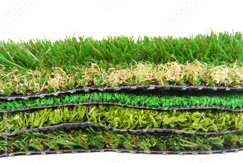 Photo artificial grass astroturf selection isolated on white