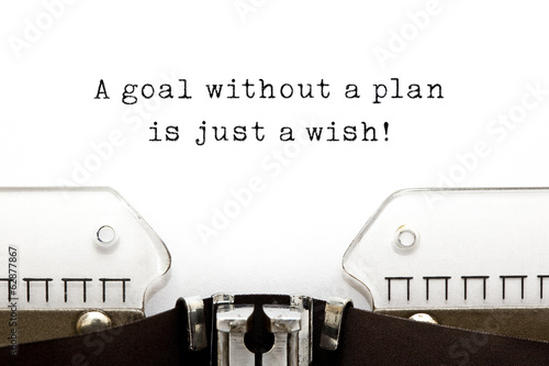 A goal without a plan is just a wish Canvas Print
