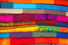 Colorful Blankets At The Mexic...