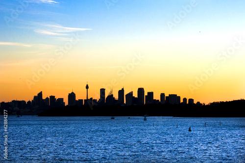 Foto op Plexiglas Chicago Sydney skyline at sunset