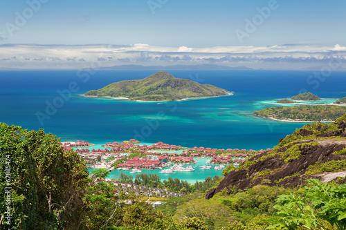 Fotografie, Obraz  Aerial view of Eden island, Mahe, Seychelles