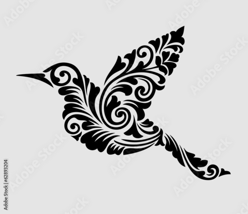 Nice, clean and smooth flying bird ornament decoration