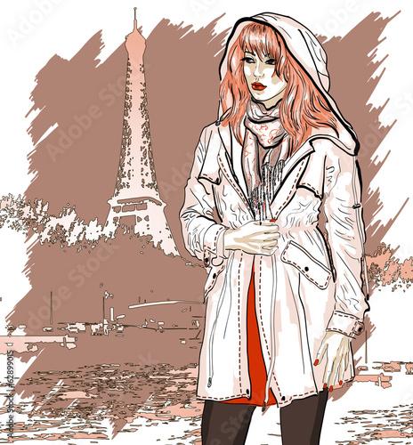 recznie-rysowane-ilustracji-z-dziewczyna-mody