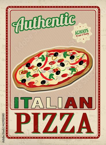 autentyczne-wloskiej-pizzy-retro-plakat