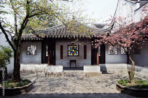 Tuinposter China Entrance courtyard at the Lion's Grove garden, Suzhou, China