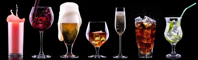 set različitih alkoholnih pića