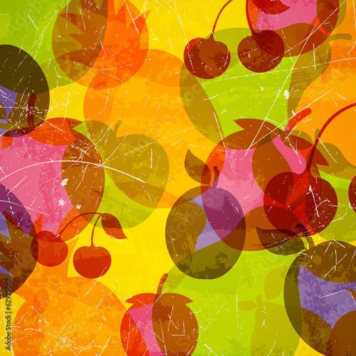 wektorowa-ilustracja-abstrakcjonistyczny-tlo-z-owoc