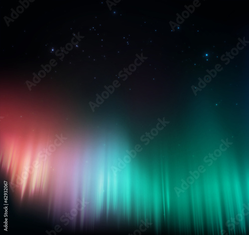 Photo  Colorful aurora