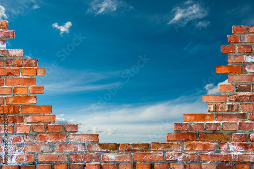 Fotografía brick wall with hole