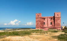 St. Agatha's Tower Oder The Red Tower In Malta