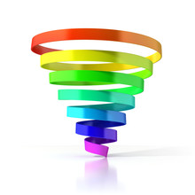 Colorful Spiral Ribbon