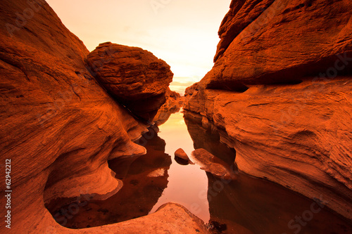 Printed kitchen splashbacks Reflection Grand Canyon of Thailand called Sam-Pan-Bok in Ubon Ratchathani