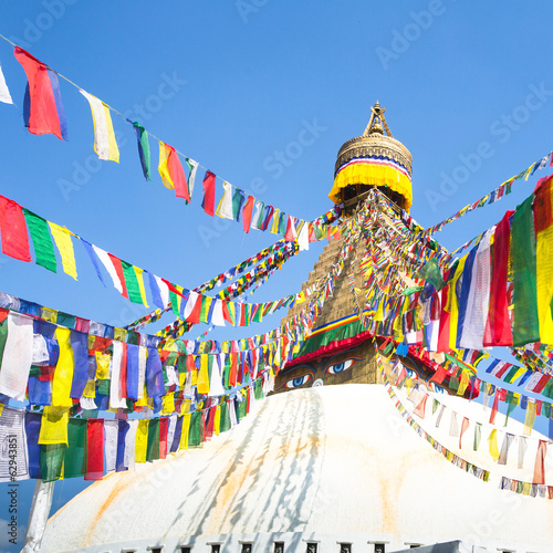 Staande foto Nepal Bodhnath Stupa in Kathmandu with Buddha Eyes