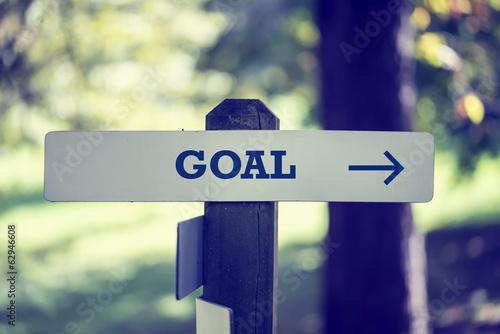 Photo  Goal signboard