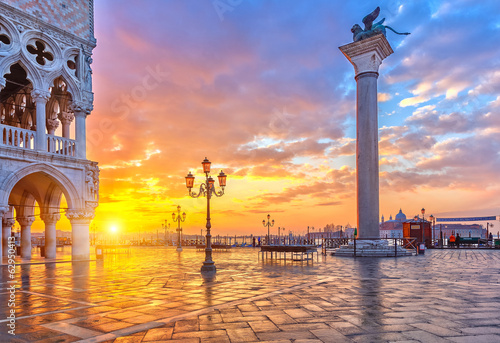 Poster Venise Sunrise in Venice