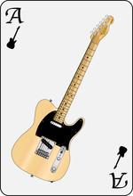 Electric Guitar Playing Card