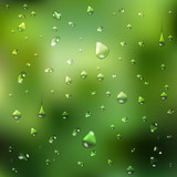 Summer  background. waterdrops