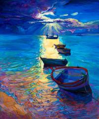 FototapetaOcean and boats