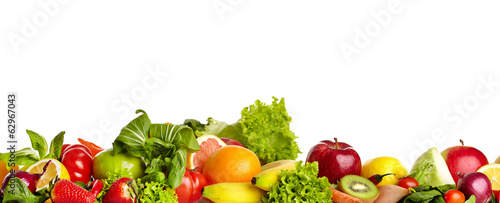 Wall Murals Fresh vegetables Fruit and vegetable borders