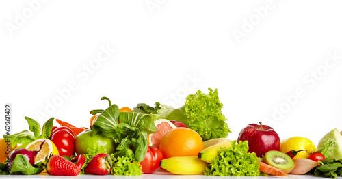 In de dag Verse groenten Fruit and vegetable borders