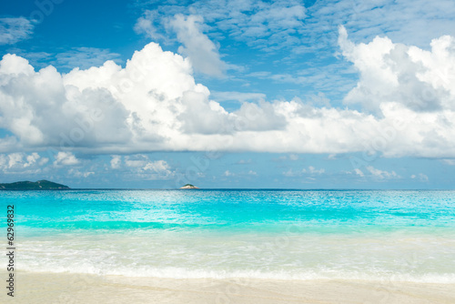 Photo Stands Landscapes beach background