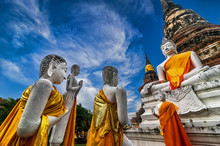 Buddhas At Wat Yai Chai Mongkh...