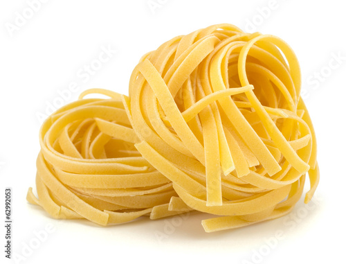 Fotografie, Obraz  Italian egg pasta nest isolated on white background