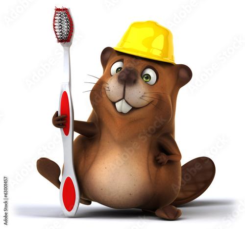 Fotobehang Boerderij Beaver