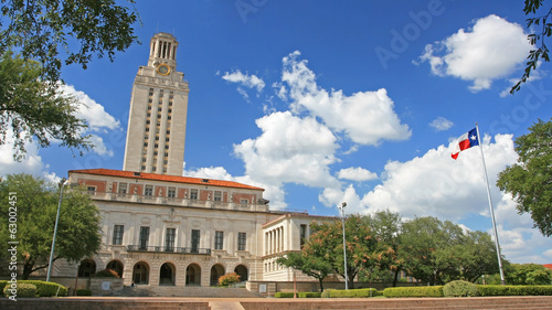 Poster Texas Landscape of University of Texas (UT) building