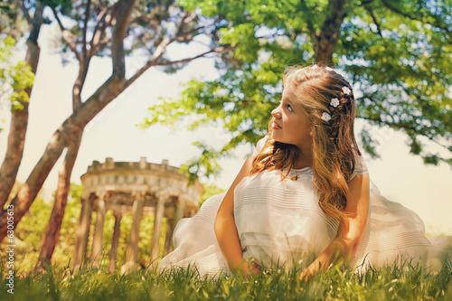 Fotografie, Obraz  Little Girl in Her First Communion Day