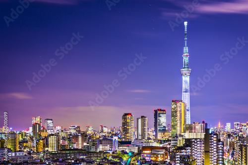 Tuinposter Dubai Tokyo Cityscape with Skytree